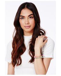 Missguided - Multicolor Tosha Multi Coloured Bracelet - Lyst