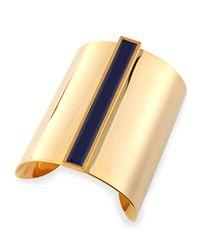 Tuleste - Blue Enamel Channel Cuff Bracelet - Lyst