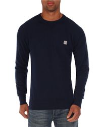 Bench | Blue Placid Crewneck Sweatshirt for Men | Lyst