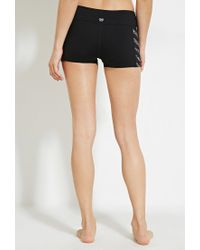 Forever 21 - Black Abstract Chevron Athletic Shorts - Lyst