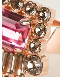 Mawi | Pink Geometric Crystal Ring | Lyst