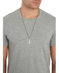 Miansai | Metallic Silver Tone Anchor Necklace for Men | Lyst