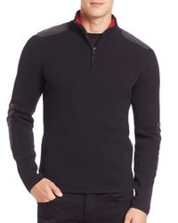 Victorinox | Black Lieutenant Quarter-zip Pullover Sweater for Men | Lyst