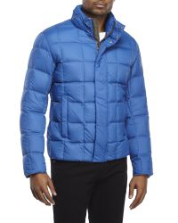 Colmar - Blue Stand Collar Puffer Jacket for Men - Lyst