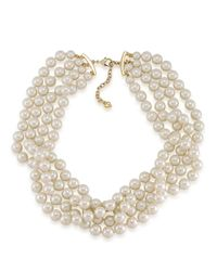 Carolee | White Picnic Pearl Four-row Torsade Necklace | Lyst