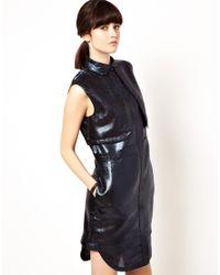 Markus Lupfer | Blue Glitter Shirt Dress | Lyst
