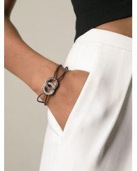 BVLGARI - Brown Interlocking Logo Bracelet - Lyst