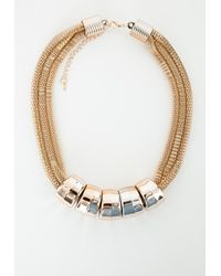 Missguided | Metallic Yuriko Chunky Chain Necklace | Lyst