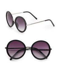 Fantaseyes - Black Yoko 52Mm Round Sunglasses - Lyst