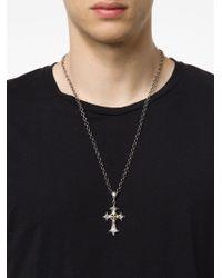 Roman Paul - Metallic Cross Pendant Necklace for Men - Lyst
