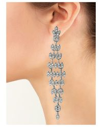 Kenneth Jay Lane | Metallic Crystal Drop Pierced Earring | Lyst