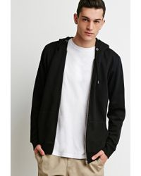 Forever 21 | Black Zip Up Hoodie for Men | Lyst
