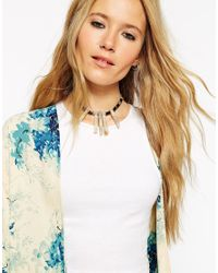 ASOS | Multicolor Semi Precious Shard Choker Necklace | Lyst