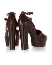 Marni - Brown Leather Platform Sandals - Lyst