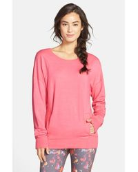 Zella | Pink 'amore' Pullover | Lyst