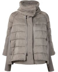 Transit - Gray Quilted Jacket - Lyst