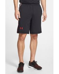Under Armour | Black 'raid' Heatgear Loose Fit Athletic Shorts for Men | Lyst