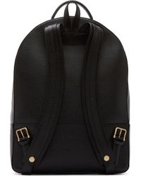 Thom Browne - Black Grained Leather Backpack for Men - Lyst