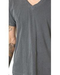 Splendid Mills - Gray Pigment Dyed V Neck Tee for Men - Lyst