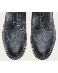Frye | Black James Wingtip for Men | Lyst