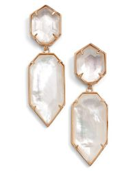 Kendra Scott - Pink 'perla' Drop Earrings - Lyst