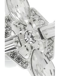 Oasis - Metallic Limited Edition Deco Stone Ring - Lyst