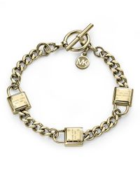 Michael Kors - Metallic Heritage Gold Toggle Bracelet - Lyst