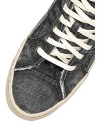 DIESEL | Black Denim High Top Sneakers | Lyst