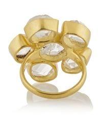 Pippa Small - Metallic 18-Karat Gold Herkimer Diamond Ring - Lyst