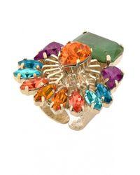 Anton Heunis | Multicolor Swarovski Crystals Ring | Lyst