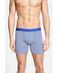 Lacoste - Blue Supima Cotton Boxer Briefs, (assorted 3-pack) for Men - Lyst