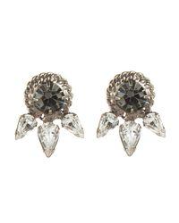 DANNIJO | Black Ruby Earrings | Lyst