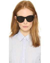 Saint Laurent - Black Classic Sunglasses - Dark Havana/brown Gradient - Lyst