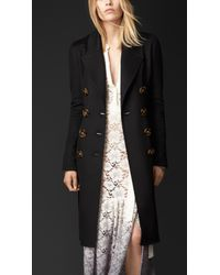 Burberry | Black Double Cashmere Coat | Lyst