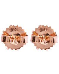 Suzanne Kalan - Pink Rose Gold Black Night Quartz Stud Earrings - Lyst