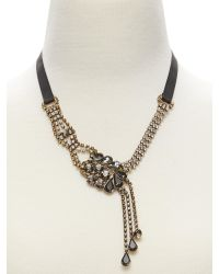 Banana Republic | Metallic Asymmetrical Teardrop Necklace | Lyst
