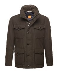 BOSS Orange | Green Short Parka 'c-ole-w' In Cotton Blend for Men | Lyst