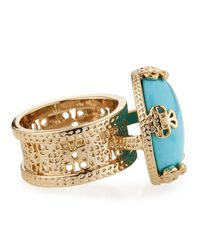 Kendra Scott - Blue Tyra Turqouise Ring Size 8 - Lyst