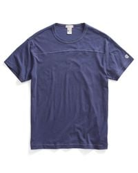 Todd Snyder   Football T-shirt In Mast Blue for Men   Lyst