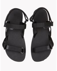 DSquared² - Black Biarritz Sandals for Men - Lyst