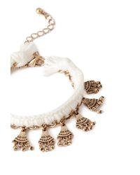 Forever 21 | Natural Etched Fringe Cord Bracelet | Lyst