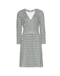 Tory Burch - Gray Matte Printed Dress - Lyst