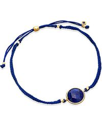 Astley Clarke | Blue Lapis Polka 18ct Yellow Gold-plated Bracelet | Lyst