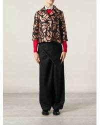 Marni - Black Wrap Front Trousers - Lyst