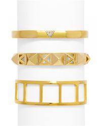 BaubleBar | Metallic Gold Trig Cuff Set | Lyst