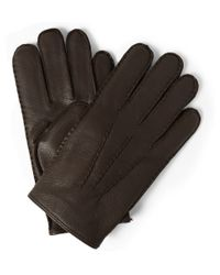 Polo Ralph Lauren   Brown Thinsulate™ Cashmere And Wool-Lined Leather Gloves for Men   Lyst