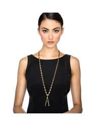 Lulu Frost | Metallic Plaza Letter Necklace - Diamond Chain | Lyst