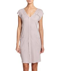 Hanro - Purple Pisa Cap-sleeve Nightgown - Lyst