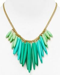 T Tahari - Green Ombre Tassel Necklace 16 - Lyst