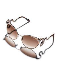 Roberto Cavalli - Pink Snake-temple Cat-eye Sunglasses - Lyst